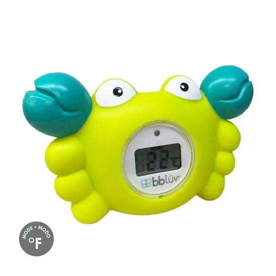 BBLuv Krab 3-in-1 Thermometer & Bath Toy - Fahrenheit
