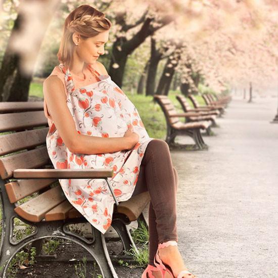 Bebe Au Lait Premium Organic Cotton Nursing Cover - Primrose-4