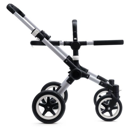 Bugaboo Buffalo Base - Aluminum/Black with Faux Leather -2