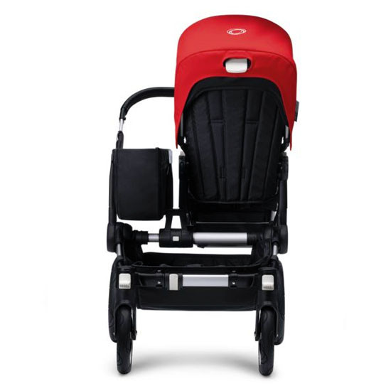 Bugaboo Donkey Mono Base with Faux Leather - Aluminum/Black -2