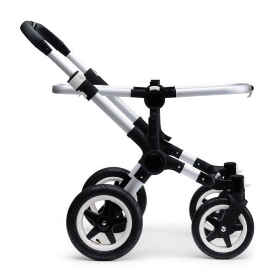 Bugaboo Donkey Mono Base with Faux Leather - Aluminum/Black -4