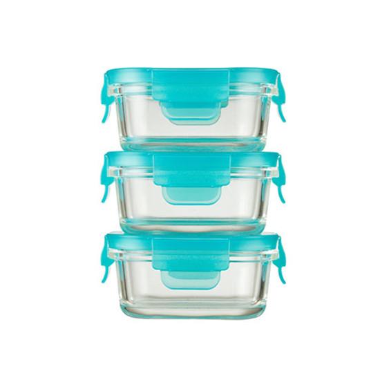 Innobaby Preppin' SMART EZ Lock Glass Container - 3 Pack