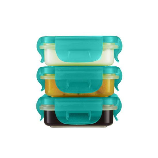 Innobaby Preppin' SMART EZ Lock Square Container 4 oz - 3 Pack-3