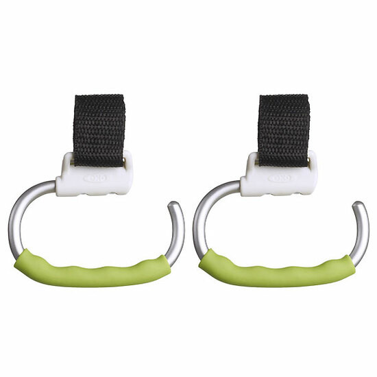 OXO TOT Handy Stroller Hook - 2 Pack - Green
