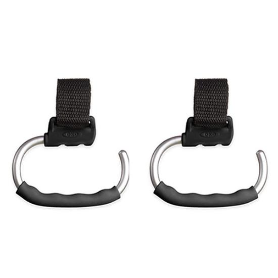 OXO TOT Handy Stroller Hook - 2 Pack - Grey