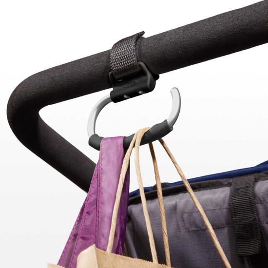 OXO TOT Handy Stroller Hook - 2 Pack - Grey -2