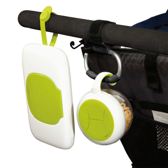 OXO TOT Handy Stroller Hook - 2 Pack - Grey -4