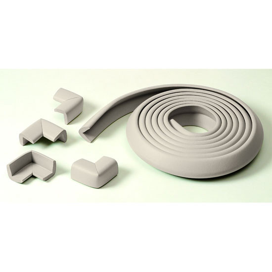 Prince Lionheart Table Edge Guard - White - with 4 corners - Grey