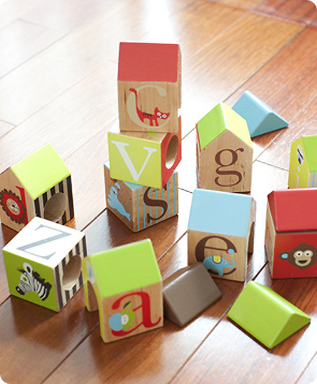 Skip Hop Alphabet Zoo ABC House Blocks-2