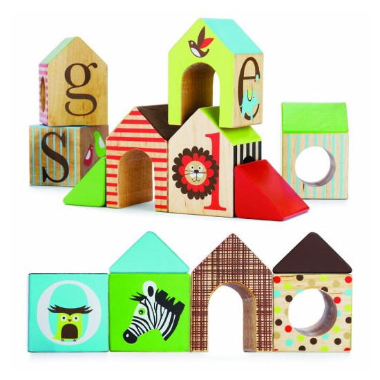 Skip Hop Alphabet Zoo ABC House Blocks-4