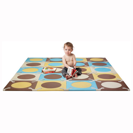 Skip Hop Playspot - Interlocking Foam Tiles - Blue/Gold -2