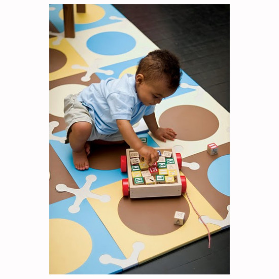 Skip Hop Playspot - Interlocking Foam Tiles - Blue/Gold -3
