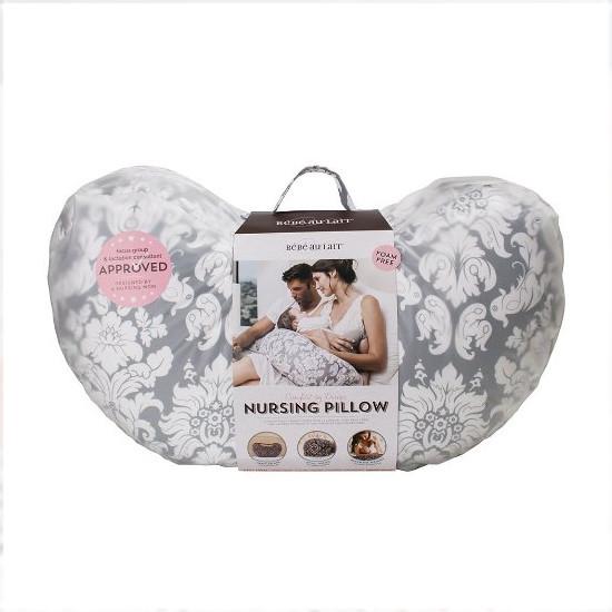 Bebe Au Lait Premium Cotton Nursing Pillow - Chateau Silver-2
