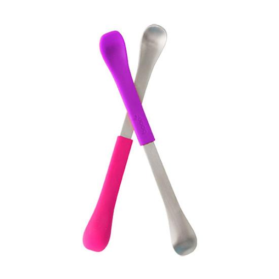 Boon Swap 2-in-1 Feeding Spoon - Pink/Purple