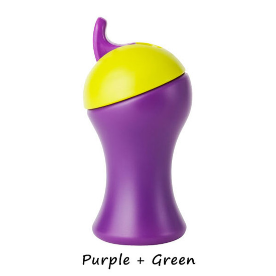 Boon Swing Tall Flip Top Sippy Cup - Light Purple+Red-3
