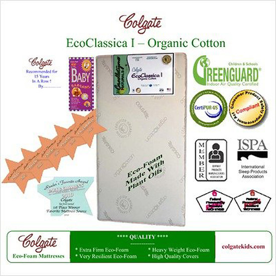 Colgate Eco Classica I Organic Cotton Crib Mattress -3