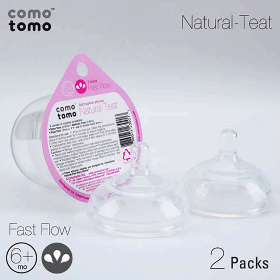Comotomo Fast Flow Nipple Pack - 2 pack-3