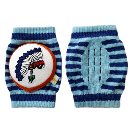 Crawlings Baby Knee Pad - Indigo Indian Chief -2