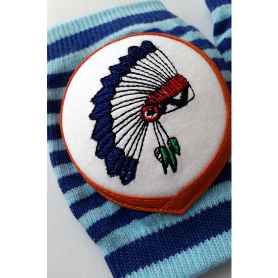 Crawlings Baby Knee Pad - Indigo Indian Chief -3