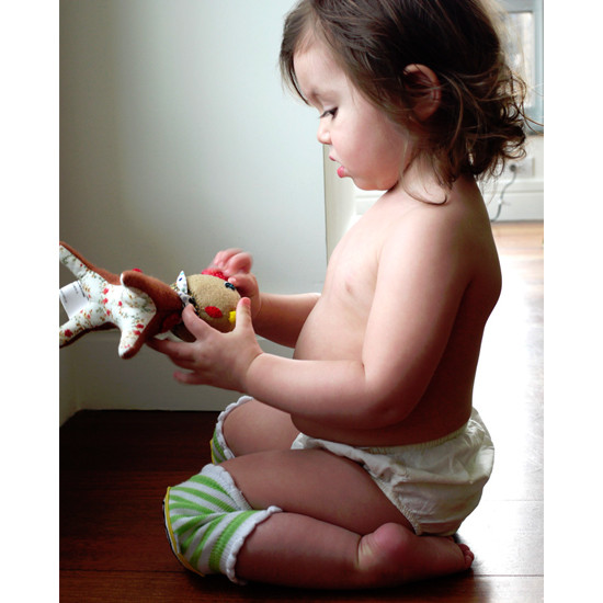 Crawlings Baby Knee Pad - Kiwi Green Soccer -3