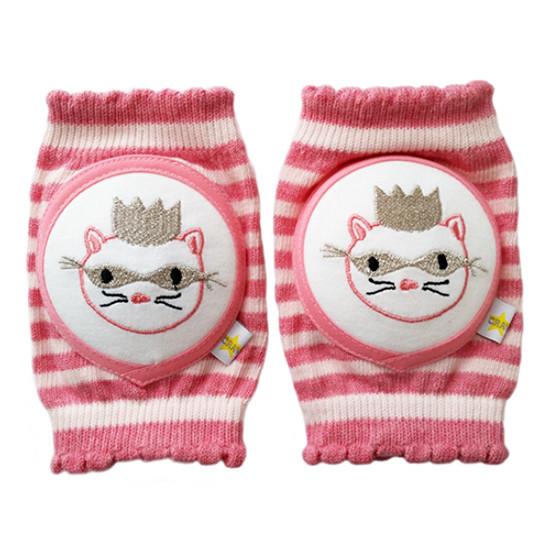 Crawlings Baby Knee Pad - Peony Masked Princess Cat