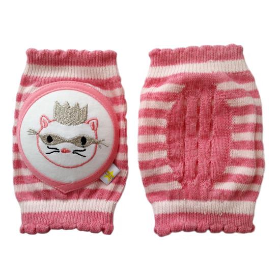 Crawlings Baby Knee Pad - Peony Masked Princess Cat -2