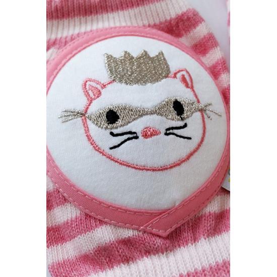 Crawlings Baby Knee Pad - Peony Masked Princess Cat -3