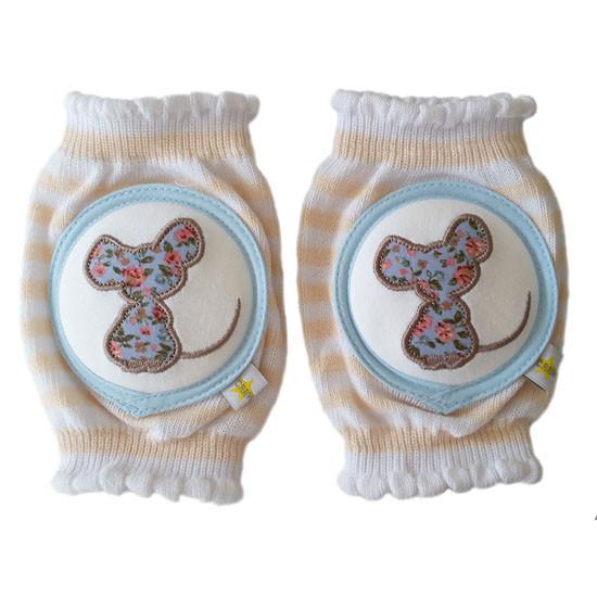 Crawlings Baby Knee Pad - Sweet Tea Mouse