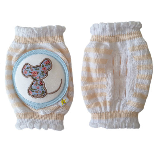 Crawlings Baby Knee Pad - Sweet Tea Mouse -2