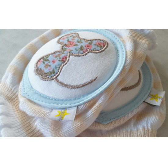Crawlings Baby Knee Pad - Sweet Tea Mouse -3