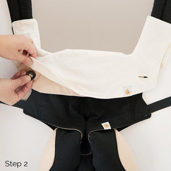 Ergo Baby 360 Carrier Teething Pad & Bib - Natural-2