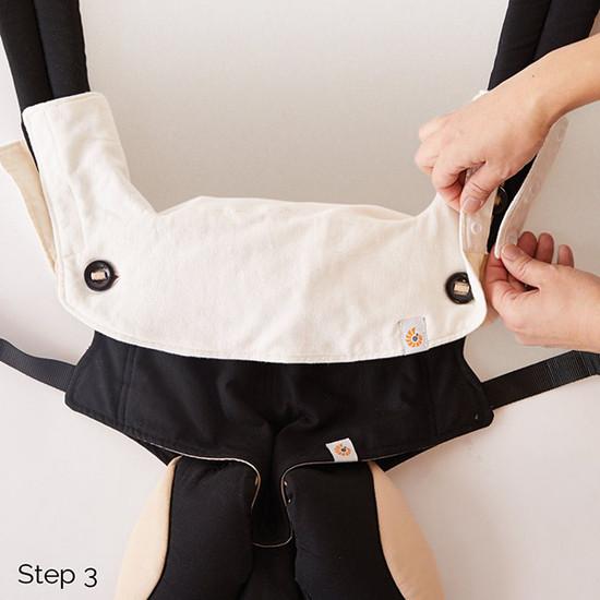 Ergo Baby 360 Carrier Teething Pad & Bib - Natural-3