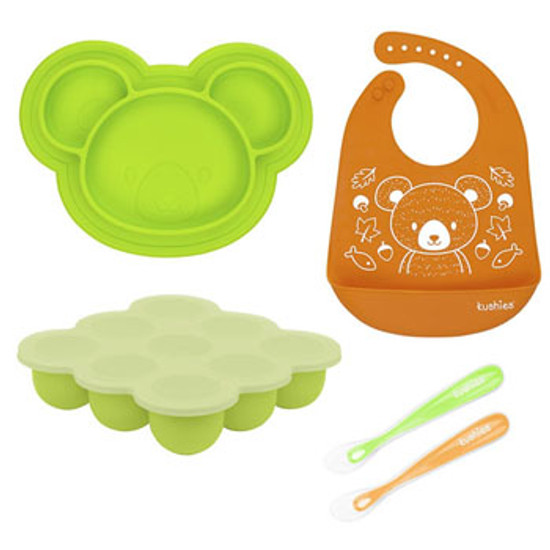 Kushies SiliSet All-In-One Silicone Gift Set - Neutral