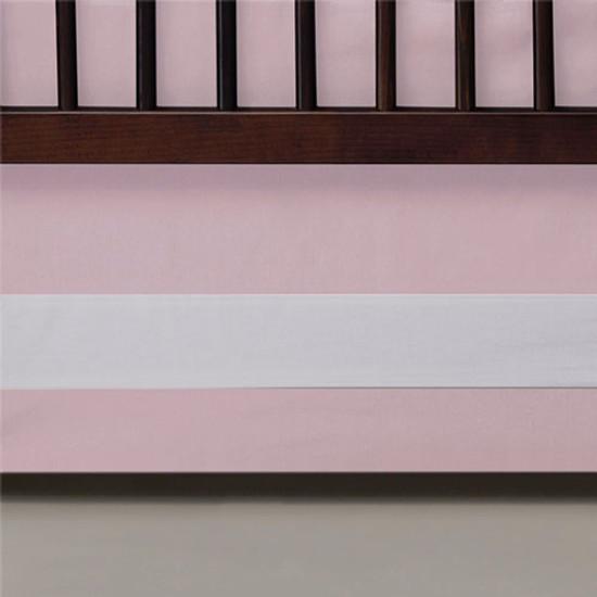 Oilo Band Crib Skirt - Blush