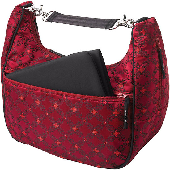 Petunia Pickle Bottom Touring Tote - Spiced Crimson Roll-3