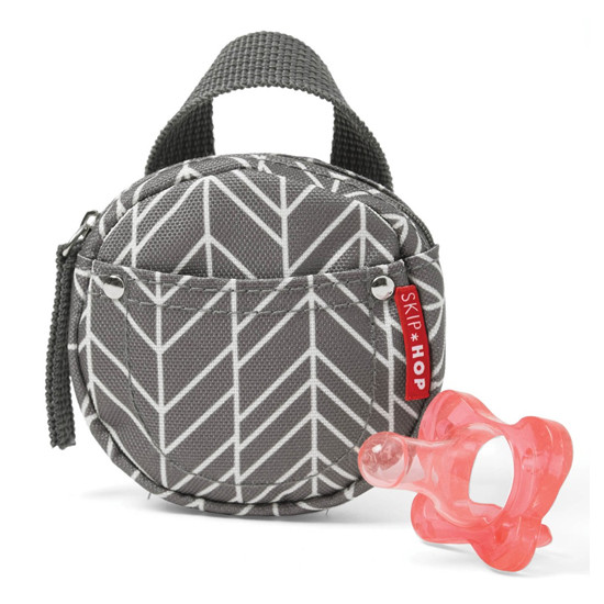 Skip Hop Pacifier Pocket - Grey Feather-2