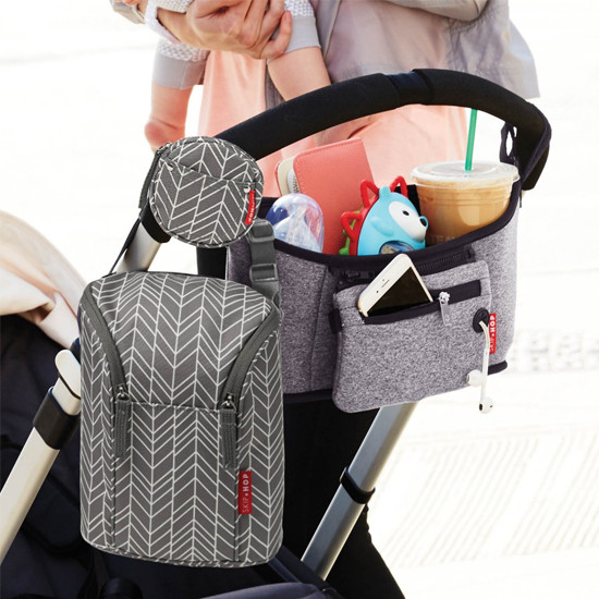 Skip Hop Pacifier Pocket - Grey Feather-3