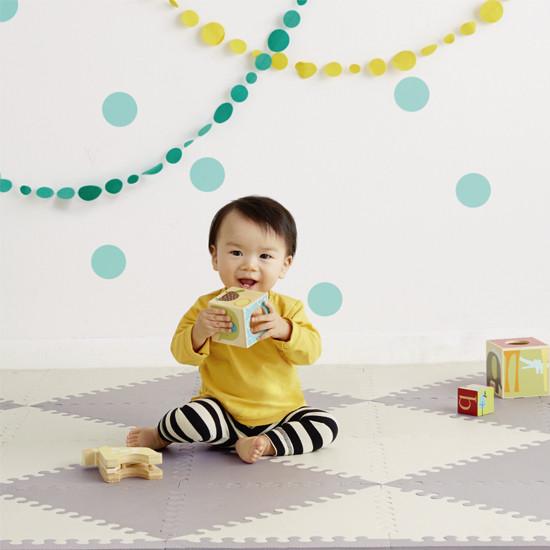 Skip Hop Playspot Geo - Interlocking Foam Tiles - Grey/Cream -2