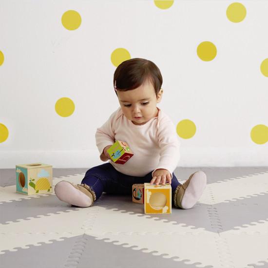 Skip Hop Playspot Geo - Interlocking Foam Tiles - Grey/Cream -3