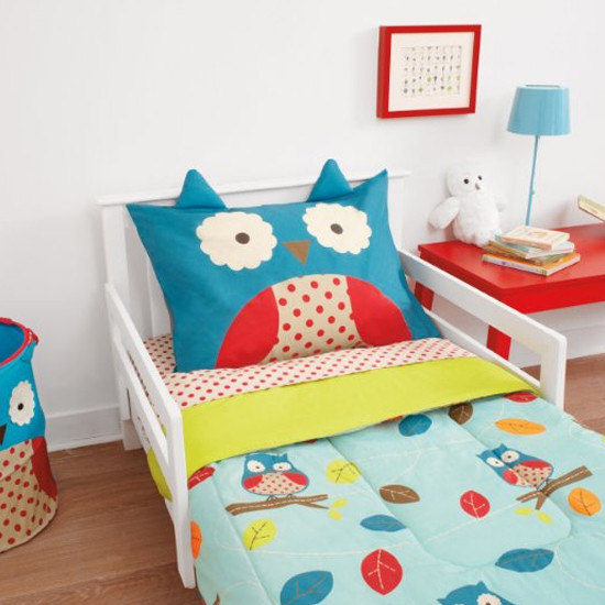 Skip Hop Zoo 4pc Toddler Bedding Set - Owl-2