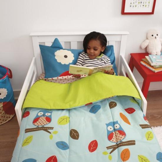 Skip Hop Zoo 4pc Toddler Bedding Set - Owl-3