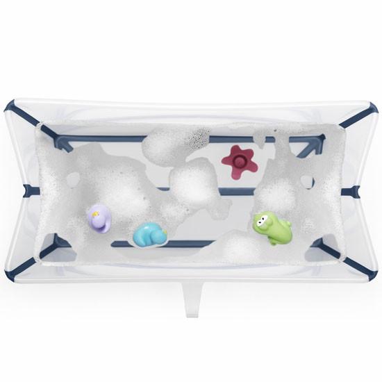 STOKKE Flexi Bath Heat Sensitive Tub + Newborn Support - Transparent Blue_thumb3