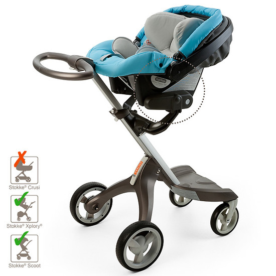 STOKKE Xplory / Scoot / Trailz Car Seat Adapter for Peg Perego -3