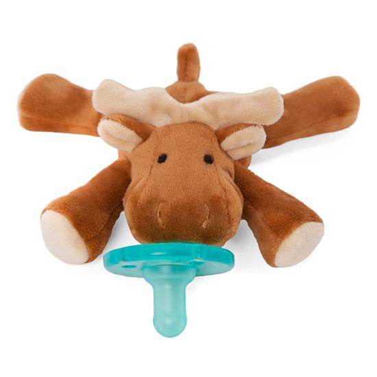 WubbaNub Plush Pacifier - Brown Moose