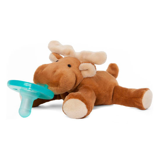 WubbaNub Plush Pacifier - Brown Moose-3