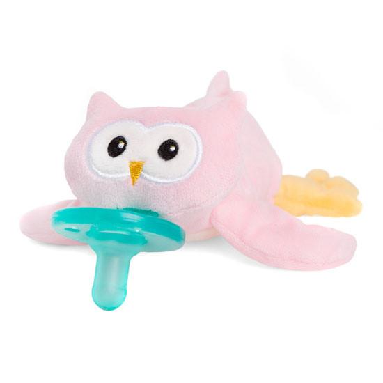 WubbaNub Plush Pacifier - Pink Owl-3