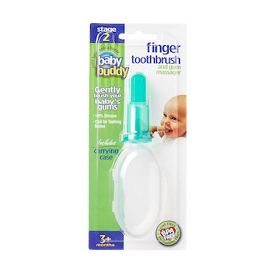 Baby Buddy Finger Toothbrush with Case - Green