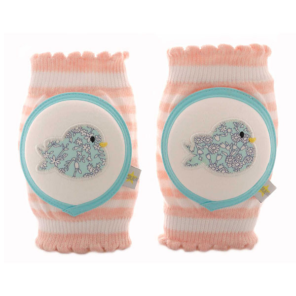 Crawlings Baby Knee Pad - Turquoise Birdy