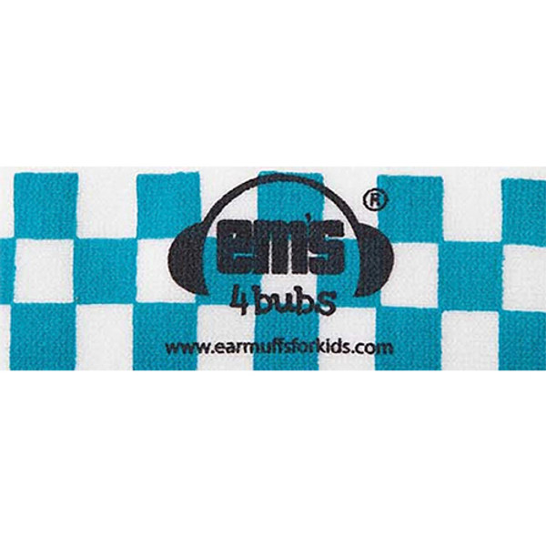 EMS 4 KIDS Earmuffs for Bubs Adjustable Headband - Blue/White