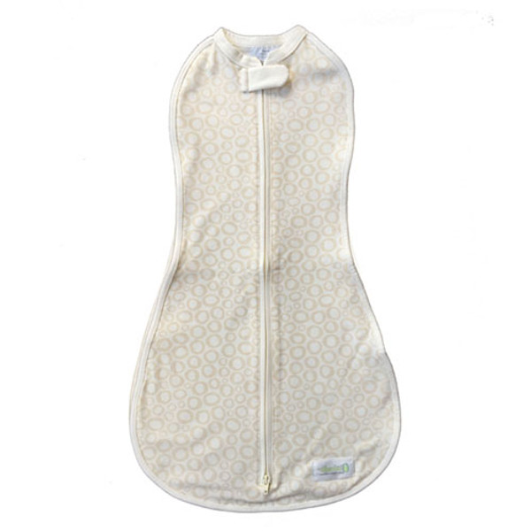 Woombie Organic Woombie One-step baby swaddle Big Baby -Tan O's 14-19 lb-1